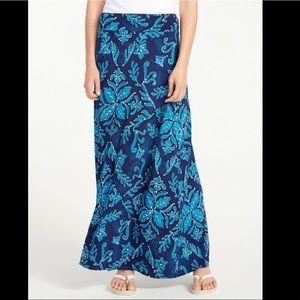 Tommy Bahama Indigo flora tambour maxi skirt